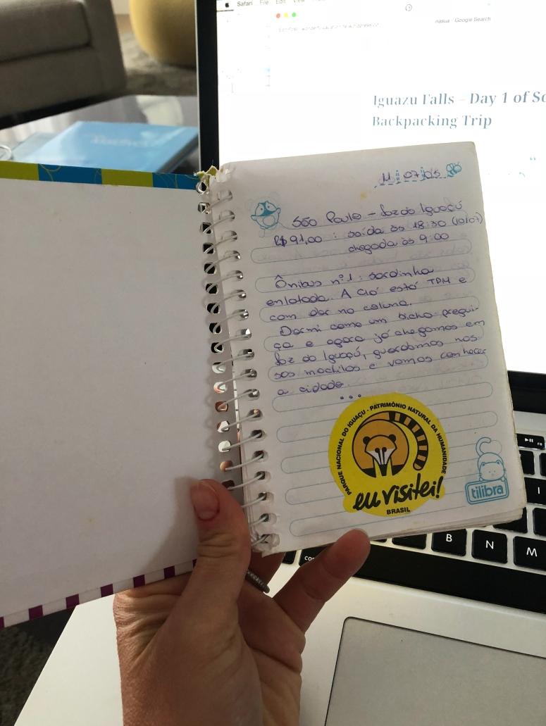 my trip notebook
